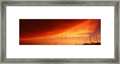 Low Angle View Of Antennas, Phoenix Framed Print by Panoramic Images