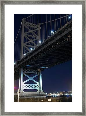 Low Angle View Of Bridge At Night Framed Print
