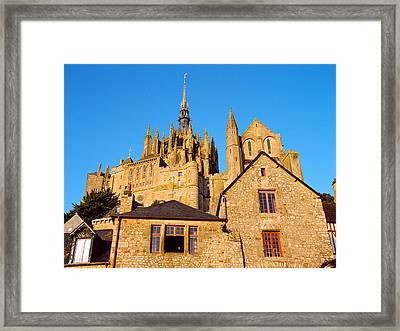Low Angle View Of Buildings At Mont Framed Print by Panoramic Images