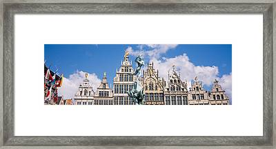 Low Angle View Of Buildings, Grote Framed Print