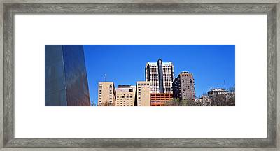Low Angle View Of Buildings, Hyatt Framed Print