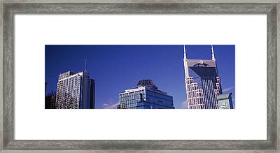 Low Angle View Of Buildings, Nashville Framed Print by Panoramic Images