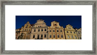 Low Angle View Of Buildings, Prague Old Framed Print by Panoramic Images