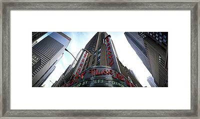 Low Angle View Of Buildings, Radio City Framed Print
