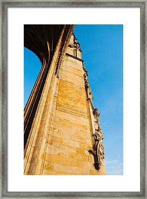 Low Angle View Of Cathedrale Framed Print by Panoramic Images