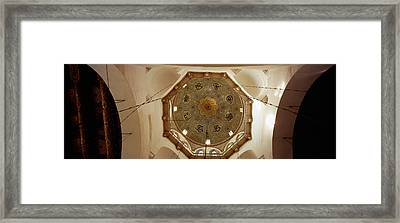 Low Angle View Of Ceiling In A Mosque Framed Print by Panoramic Images