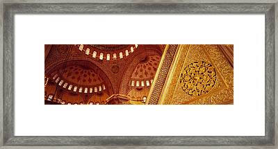 Low Angle View Of Ceiling Of A Mosque Framed Print