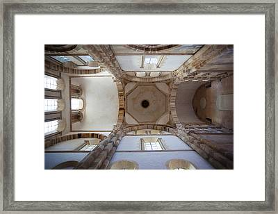 Low Angle View Of Ceiling Of An Abbey Framed Print by Panoramic Images