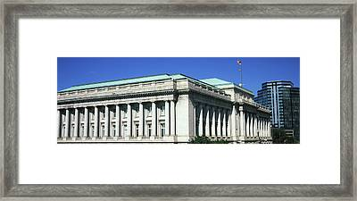 Low Angle View Of City Hall, Cleveland Framed Print