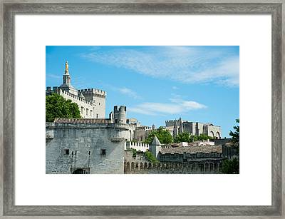Low Angle View Of City Walls, Pont Framed Print