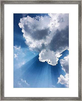 Low Angle View Of Cloudy Sky Framed Print by Cory Voecks / Eyeem