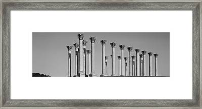 Low Angle View Of Columns, National Framed Print
