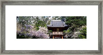Low Angle View Of Entrance Of A Park Framed Print by Panoramic Images