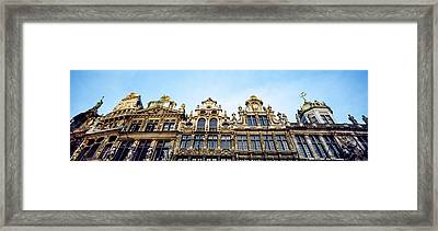 Low Angle View Of Grand Place Framed Print