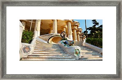 Low Angle View Of Hall Of Columns, Park Framed Print by Panoramic Images