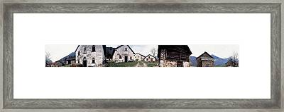 Low Angle View Of Houses In A Village Framed Print by Panoramic Images