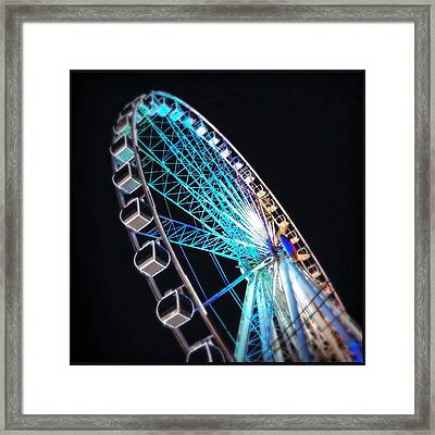 Low Angle View Of Illuminated Ferris Framed Print by Kenneth Shelton / Eyeem