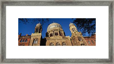 Low Angle View Of Jewish Synagogue Framed Print