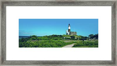 Low Angle View Of Lighthouse, Montauk Framed Print