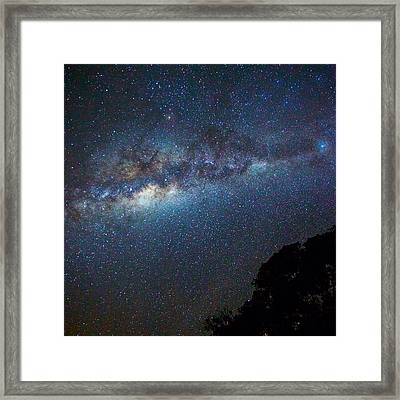 Low Angle View Of Majestic Star Field Framed Print by Brent Purcell / Eyeem