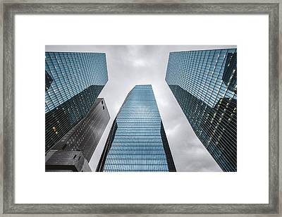 Low Angle View Of Modern Buildings Framed Print by Oliver Byunggyu Woo / Eyeem