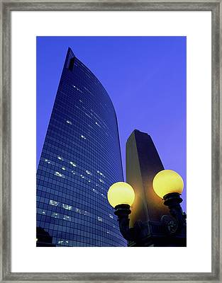 Low Angle View Of Modern Skyscrapers Framed Print by Panoramic Images
