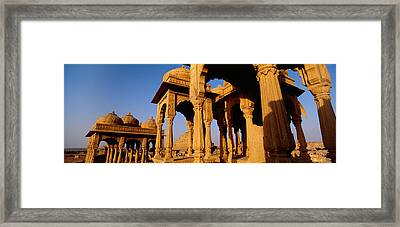 Low Angle View Of Monuments At A Place Framed Print