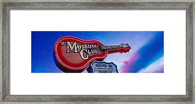 Low Angle View Of Museum Club Sign Framed Print by Panoramic Images