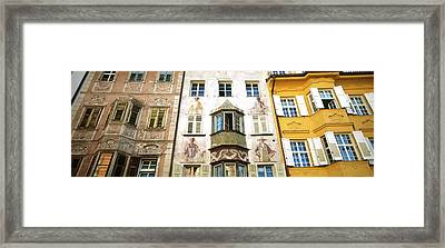 Low Angle View Of Old Buildings Framed Print by Panoramic Images