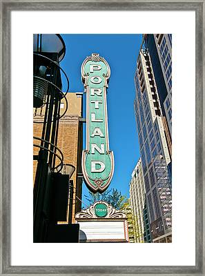 Low Angle View Of Portland Landmark Framed Print by Panoramic Images