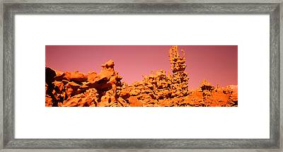 Low Angle View Of Rock Formations, The Framed Print by Panoramic Images