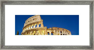Low Angle View Of Ruins Of An Framed Print