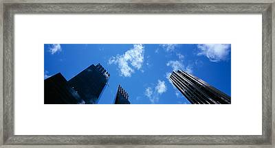 Low Angle View Of Skyscrapers, Columbus Framed Print
