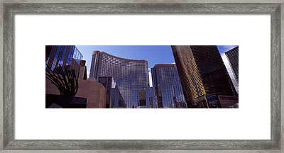 Low Angle View Of Skyscrapers Framed Print