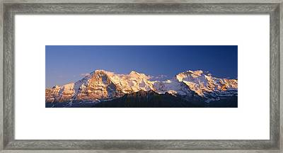Low Angle View Of Snowcapped Mountains Framed Print by Panoramic Images