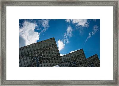 Low Angle View Of Solar Panels Framed Print by Panoramic Images