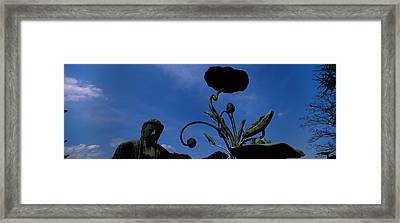 Low Angle View Of Statue Of Daibutsu Framed Print