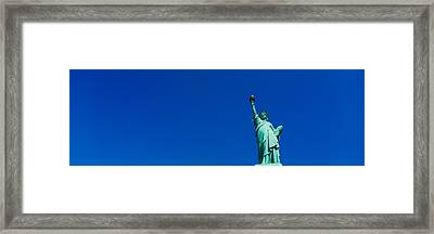 Low Angle View Of Statue Of Liberty Framed Print