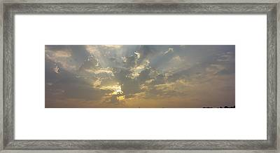 Low Angle View Of Sun Shinning Framed Print by Panoramic Images