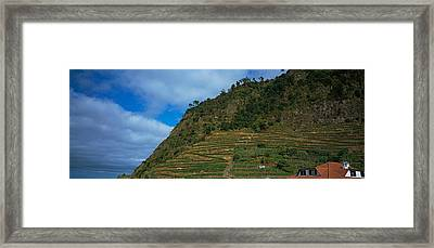 Low Angle View Of Terraced Fields Framed Print by Panoramic Images