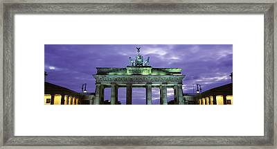Low Angle View Of The Brandenburg Gate Framed Print