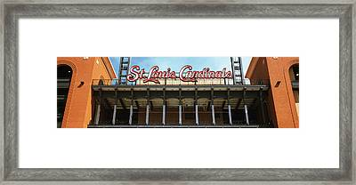 Low Angle View Of The Busch Stadium Framed Print by Panoramic Images