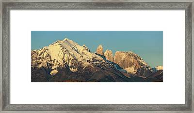 Low Angle View Of The Cordillera Paine Framed Print by Panoramic Images