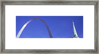 Low Angle View Of The Gateway Arch Framed Print