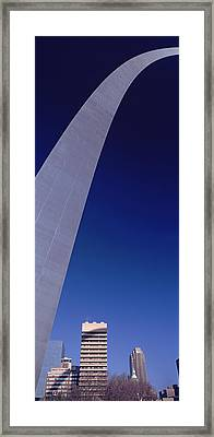 Low Angle View Of The Gateway Arch, St Framed Print
