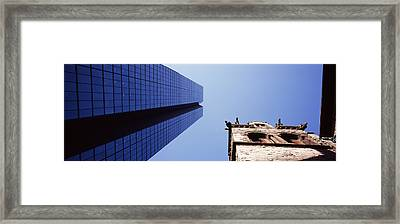 Low Angle View Of The Hancock Building Framed Print by Panoramic Images
