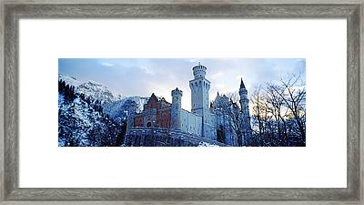 Low Angle View Of The Neuschwanstein Framed Print