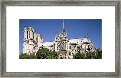 Low Angle View Of The Notre Dame Framed Print