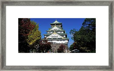 Low Angle View Of The Osaka Castle Framed Print by Panoramic Images