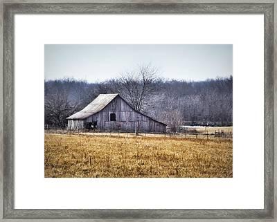 Low Crossings Barn Framed Print by Cricket Hackmann